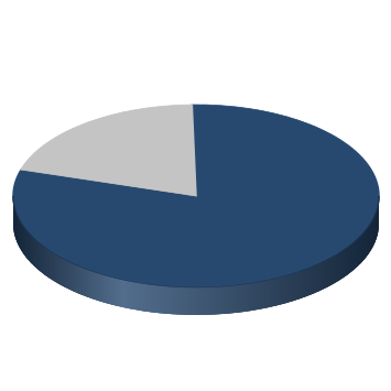 chart showing 80% of maintaining goals completed for the county