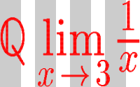 Formula with vertical stripes