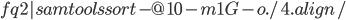 {fq2}   samtools sort -@ 10 -m 1G -o ./4.align/