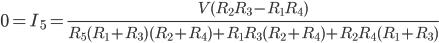 Kirchhoff law bridge circuit